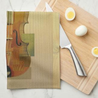 Composed Violin Tea Towel