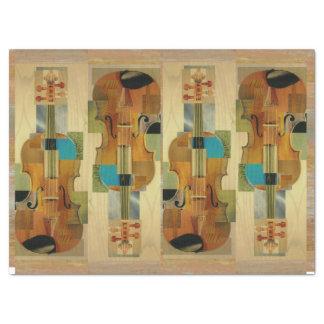Composed Violins Instrument Parts Collage Tissue Paper