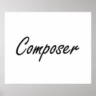 Composer Artistic Job Design Poster