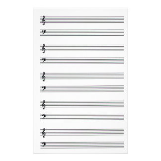 Composing Music Lined Stationery