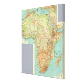 Composite Africa with shipping routes Canvas Print