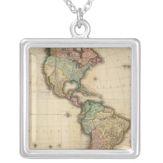 Composite America 2 Silver Plated Necklace