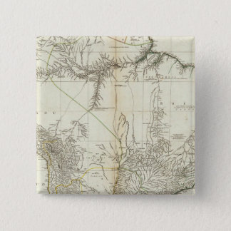 Composite American Engraved Map 15 Cm Square Badge