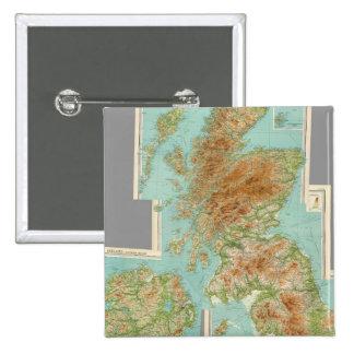 Composite British Isles 15 Cm Square Badge