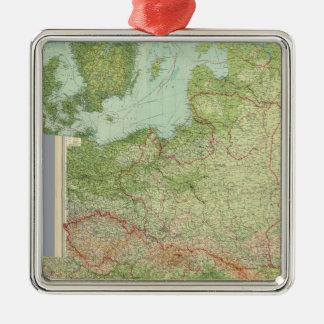 Composite Central Europe Silver-Colored Square Decoration