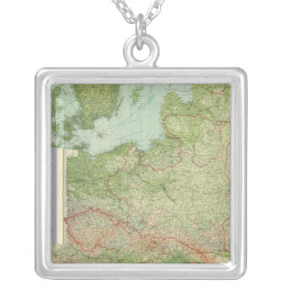 Composite Central Europe Silver Plated Necklace