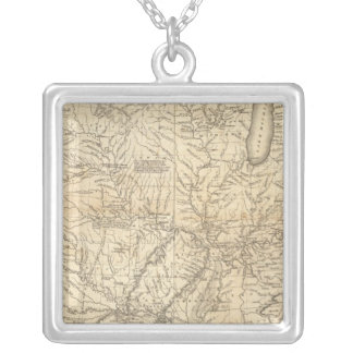 Composite Country drained by the Mississippi Silver Plated Necklace