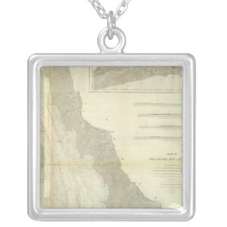 Composite Delaware Bay, River Silver Plated Necklace