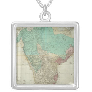 Composite East Indies with roads Silver Plated Necklace