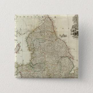 Composite England, Wales 2 15 Cm Square Badge