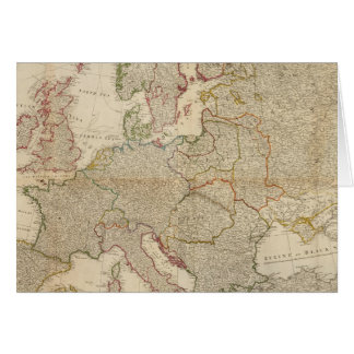 Composite Europe with statistical tables Card