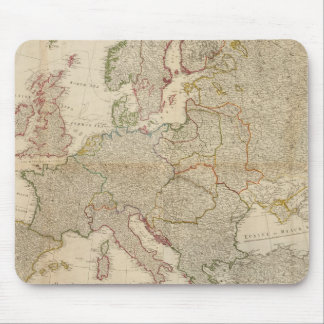 Composite Europe with statistical tables Mouse Mat