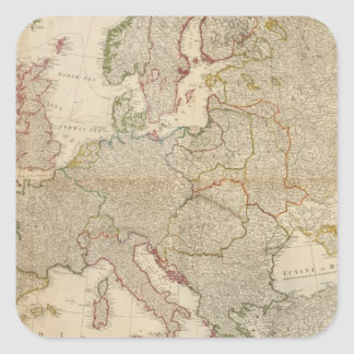 Composite Europe with statistical tables Stickers