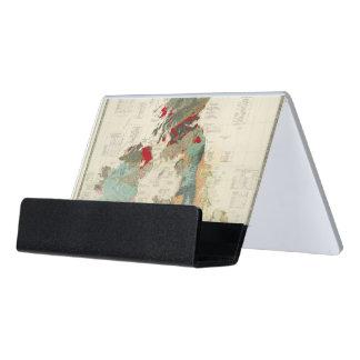 Composite Geological, palaeontological map Desk Business Card Holder