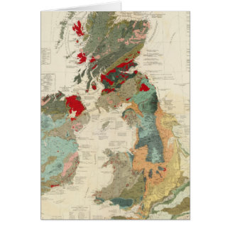 Composite Geological, palaeontological map Greeting Card