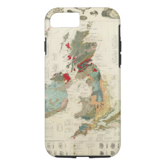 Composite Geological, palaeontological map iPhone 8/7 Case