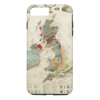 Composite Geological, palaeontological map iPhone 8 Plus/7 Plus Case