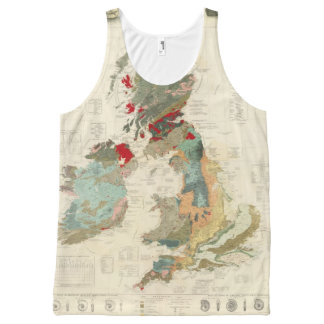 Composite Geological, palaeontological map All-Over Print Tank Top