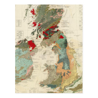 Composite Geological palaeontological map Post Cards