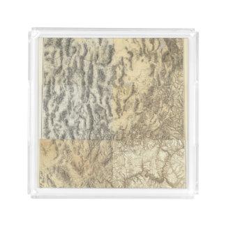 Composite Map of Arizona, Nevada, and Utah Acrylic Tray