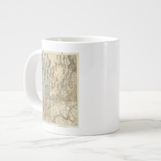 Composite Map of Arizona, Nevada, and Utah Large Coffee Mug