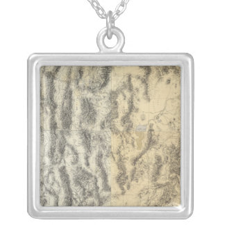 Composite Map of Arizona, Nevada, and Utah Silver Plated Necklace