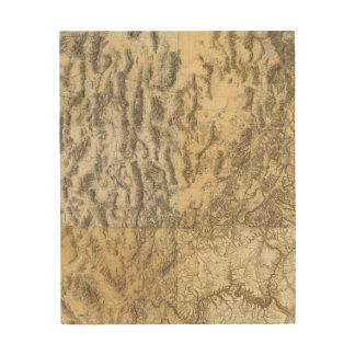 Composite Map of Arizona, Nevada, and Utah Wood Wall Art