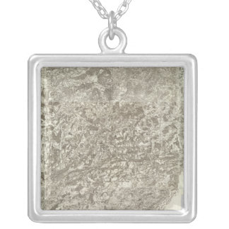 Composite Map of France 5 Silver Plated Necklace