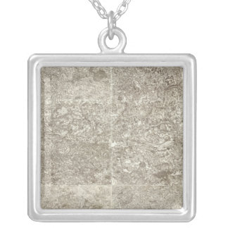 Composite Map of France 7 Silver Plated Necklace