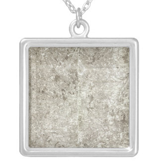 Composite Map of France 9 Silver Plated Necklace