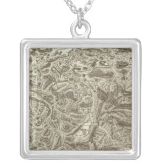 Composite Map of France Silver Plated Necklace