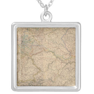 Composite Map of Germany Silver Plated Necklace
