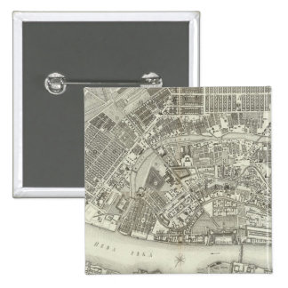 Composite Map of Saint Petersburg 15 Cm Square Badge