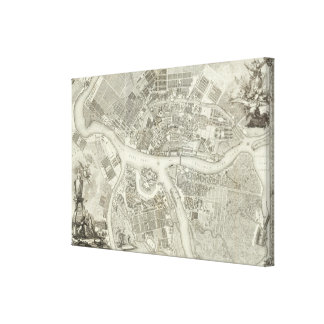 Composite Map of Saint Petersburg Canvas Print