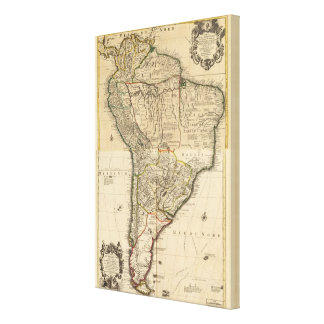 Composite map of South America Canvas Print