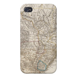 Composite Map of South America Cases For iPhone 4