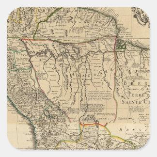 Composite map of South America Square Sticker
