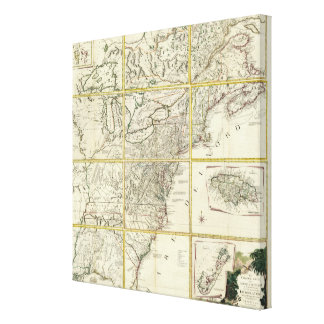 Composite map of United States Canvas Print