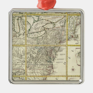 Composite map of United States Christmas Ornament