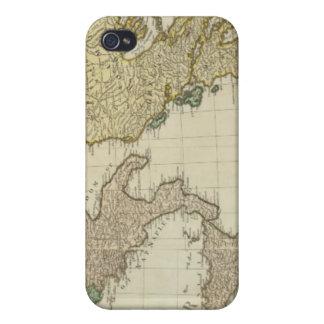 Composite Mediterranean Atlas Map iPhone 4 Covers