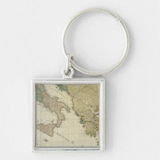 Composite Mediterranean Atlas Map Key Ring