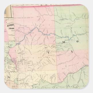 Composite Montana, Idaho Square Sticker