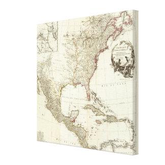 Composite North America Canvas Print
