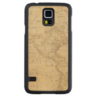 Composite North & South America Carved Maple Galaxy S5 Case