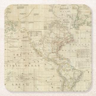 Composite North & South America Square Paper Coaster