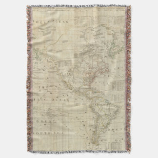 Composite North & South America Throw Blanket