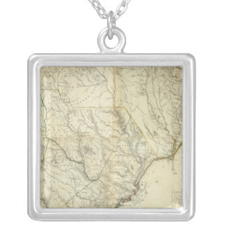Composite North & South Carolina Silver Plated Necklace