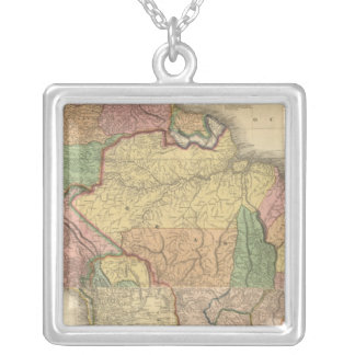 Composite of South America Silver Plated Necklace
