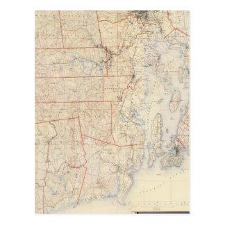 Composite Rhode Island Map Postcard