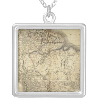 Composite South America 3 Silver Plated Necklace